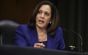 US Senator Kamala Harris speaks during a Senate Judiciary Committee hearing on June 16, 2020 in Washington, DC.