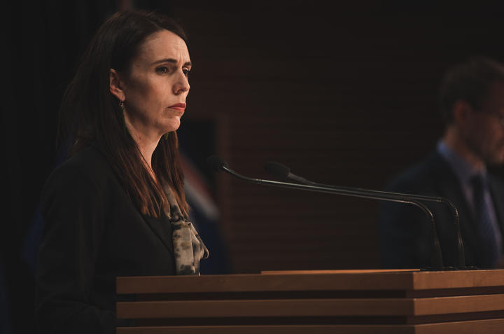 Prime Minister Jacinda Ardern giving an update on the Covid-19 situation in New Zealand on 13 August, 2020.