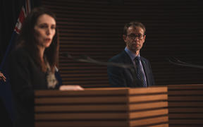 Prime Minister Jacinda Ardern and Director General of Health Ashley Bloomfield giving an update on the Covid-19 situation in New Zealand on 13 August, 2020.
