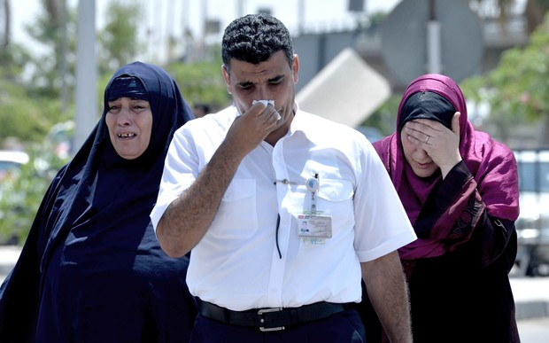Relatives of passengers on the crashed EgyptAir flight.