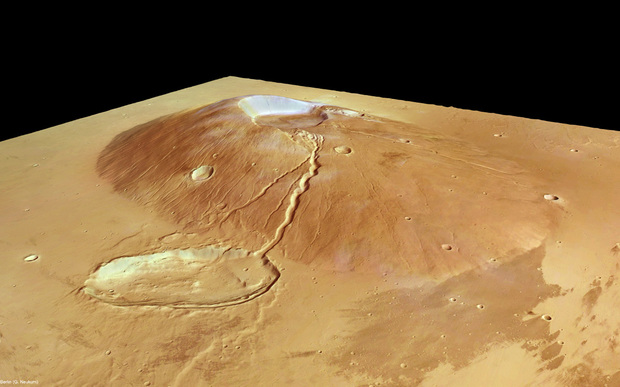 Ceraunius Tholus in perspective by Mars Expres