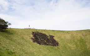 Damage on Mt Eden caused by fireworks.