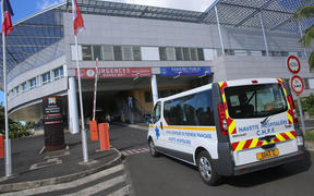 An ambulance enters the Taaone hospital in Papeete, the French overseas territory of Polynesia. (2014)