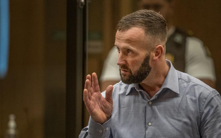 Nathan Smith - victim impact statement. PHOTO: JOHN KIRK-ANDERSON Sentencing for Brenton Tarrant on 51 murder, 40 attempted murder and one terrorism charge.
