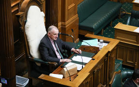 Speaker Trevor Mallard listens to Question Time in the House