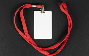 A card on a lanyard - what the proposed CovidCard could look like.