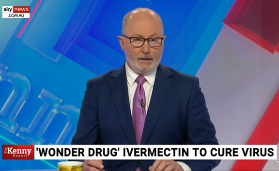 Chris Kenny was one of several News Corp hosts and writers urging more backing for Ivermectin as a Covid cure.