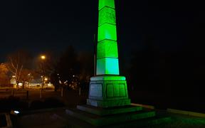 The Darfield War Memorial will be lit up tonight ahead of the 10 year anniversary of the 7.2 magnitude earthquake that struck nearby.