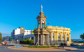 Clock tower at Invercargill, New Zealand