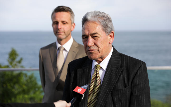 Winston Peters in Bluff while on the NZ First campaign tour.