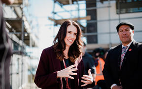 Labour Party leader Jacinda Ardern at the Ranginui 12 Papakāinga development site in Tauranga on 8 September, 2020.