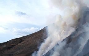 A controlled burn on Ben Lomond  breached its containment line, 9 September 2020.