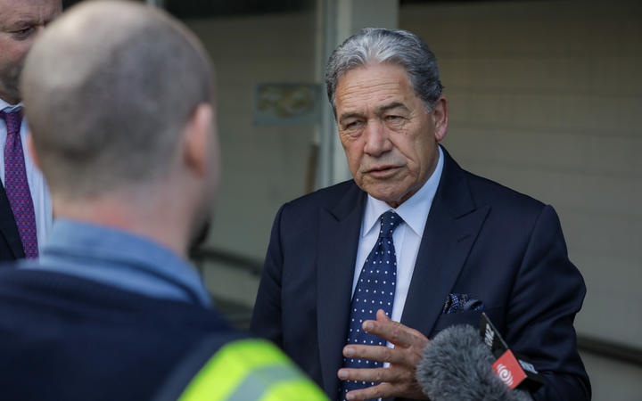 NZ First leader Winston Peters visits Tiwai Point while campaiging on 9 September 2020.