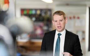 Chris Hipkins announced the Labour Party's education policy at an early childhood education centre in Porirua on 15 September 2020.