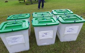 Ballot boxes that were earlier transferred for counting
