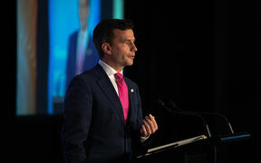 David Seymour speaking at the BusinessNZ Leaders conference
