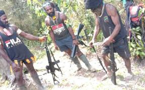 West Papua Liberation Army fighters in Intan Jaya
