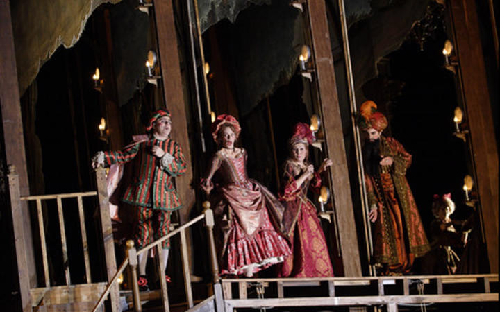 Sarah Castle (2nd from Left) in 'Adriana Lecouvreur' at ROH