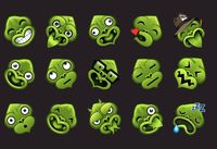 Some of the emotiki - the Māori emoji