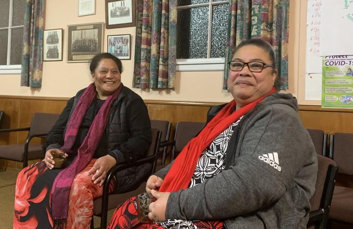 Oamaru Tongan community members Tuavale Misiloi and Atela Asi (L-R).