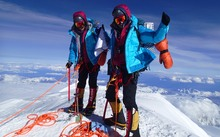 Tashi and Nunshi Malik At_Mt_McKinley_Summit