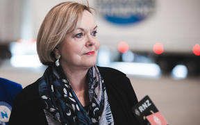 National Party leader Judith Collins campaigning at Weatherell Transport in Gisborne on 24 September, 2020.