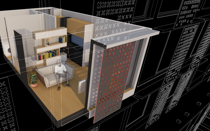 Concept of an apartment.
