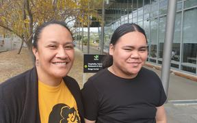 Tepora Samia (left) and Luchiano Edwards Tuioti