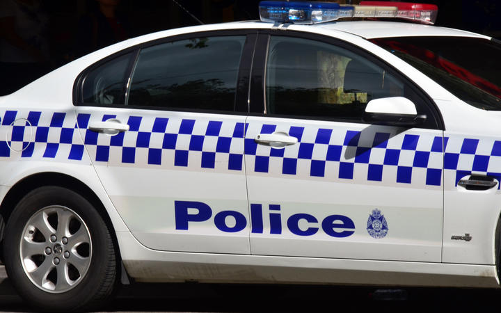 An Australian Federal Police car