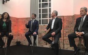 Marama Davidson, David Seymour, John Tamihere and Winston Peters at Newshub Nation's powerbrokers debate