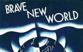 First edition cover art for Brave New World.