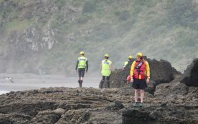 Searches are being carried out for a fisherman missing at O'Neill's Bay, near Bethell's Beach on Auckland's west coast.