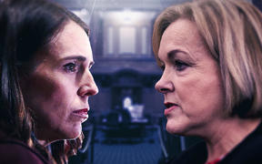 Jacinda Ardern, Judith Collins - image for Stuff / The Press debate 6/10/20