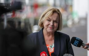 National Party leader Judith Collins holds a media conference at Stonewood Homes on 15 October, 2020.