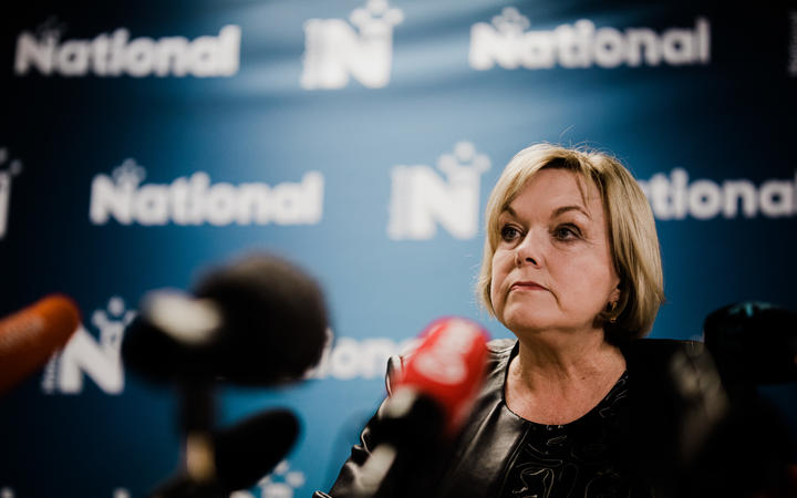 "National Party leader Judith Collins says standing down is ""not the honourable thing to do""."