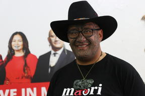 Rawiri Waititi at the Māori Party headquarters in Rotorua.