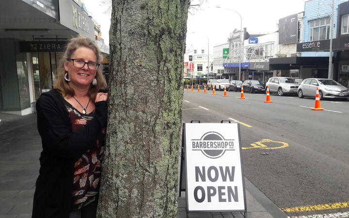Janes Gallery framing consultant Helen McLorinan says the alder trees look great but cause more trouble than it's worth.