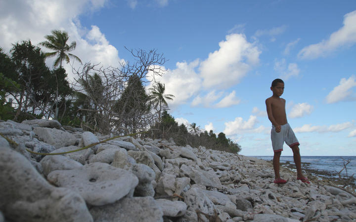 Tuvalu is highly susceptible to rises in sea level brought about by climate change.