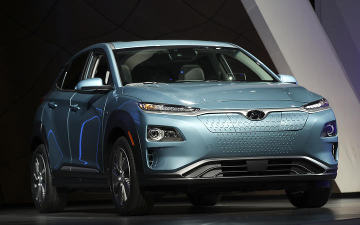 The 2019 Hyundai Kona Electric Vehicle.