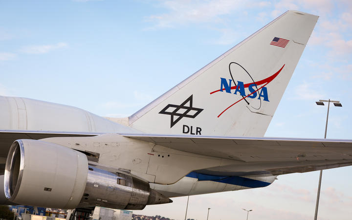 """The flying observatory """"SOFIA"""" (Stratospheric Observatory for Infrared Astronomy)."""