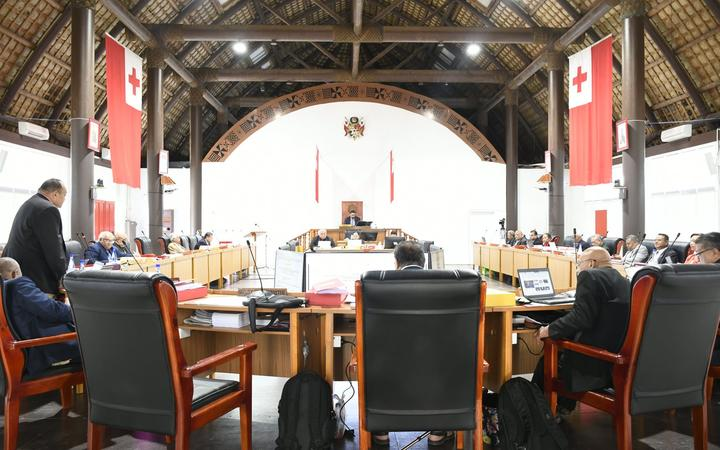 The Tonga Parliament in session.