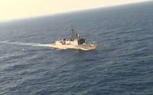 An image grab taken from a handout video released by the Egyptian Defence Ministry on May 20, 2016 shows the Egyptian military taking part in a search mission in the Mediterranean Sea for the remains of an EgyptAir plane which crashed.