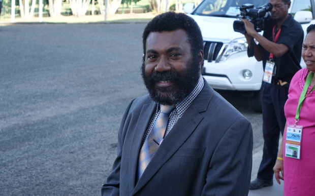 The speaker of the Papua New Guinea parliament, Theo Zurenuoc.