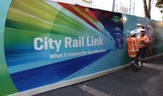 A sign on Victoria Street, Auckland, where work on the City Rail Link project is already under way.