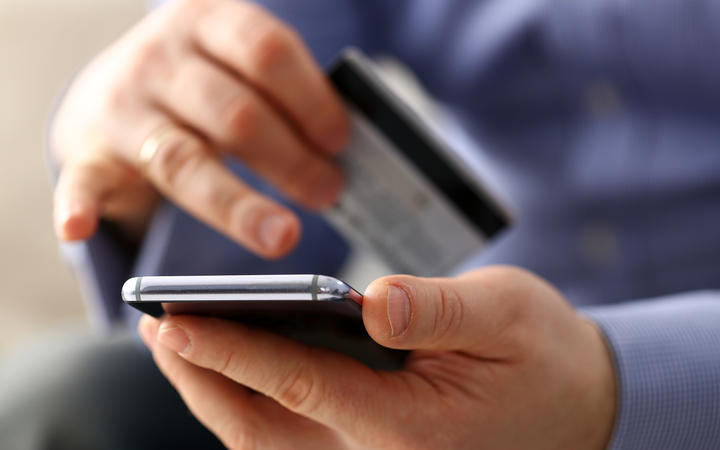 Online transaction using credit card and phone.