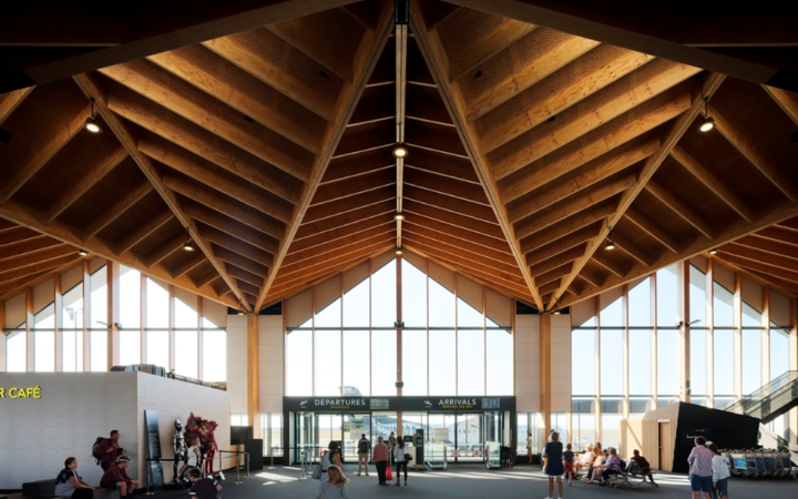Nelson Airport's new terminal designed by Studio of Pacific Architecture.