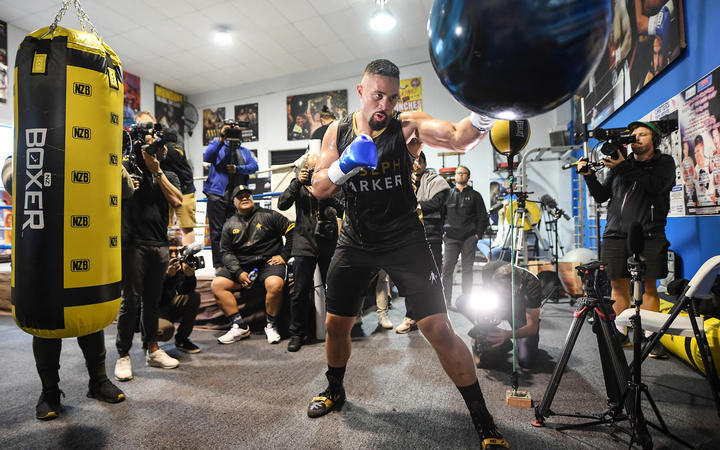 Joseph Parker is used to the attention while training