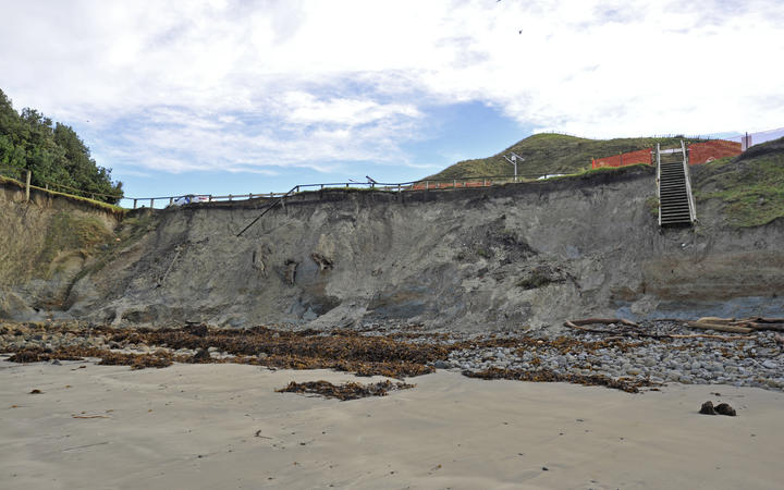Sponge Bay has experienced significant coastal erosion — a key issue the region is facing under through the impacts of climate change.