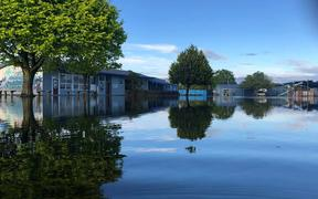 Henry Hill School in Onekawa has been flooded out after heavy rain hit the region.