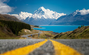 On the way to Aoraki/Mount Cook National Park..